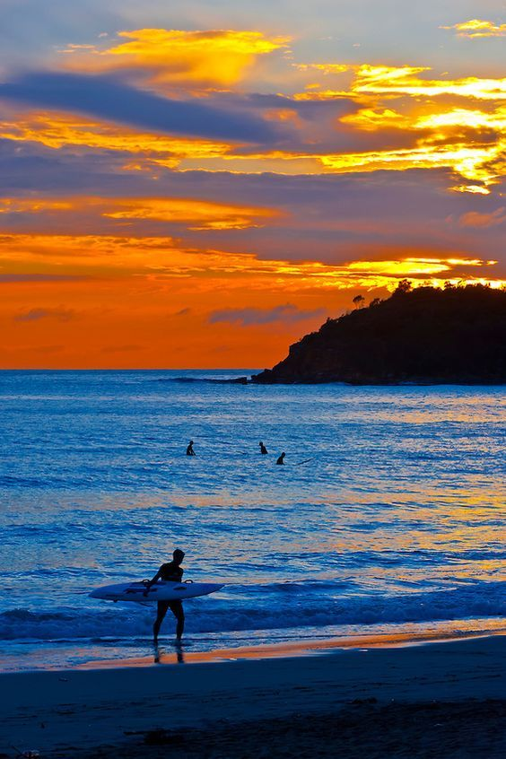 surfers at sunrise manly beach sydney new south wales australia rh pinterest com