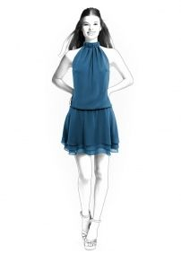 Lekala Sewing Patterns - Frauen Kleider Sewing Patterns Made to Measure and Royalty Free