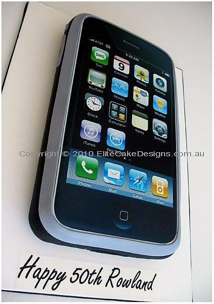 Apple iPhone Novelty Birthday Cake Novelty Birthday Cakes