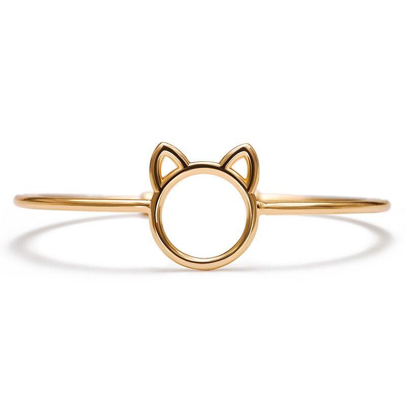 Best Sellers Cute Hollow Cat Head Opening Adjustable Metallic Golden Silver Bracelets for Women Size is around: 6.3cm  #manekineko #lucky #cats #luckycat #manekicats #maneki #neko #toys #sale