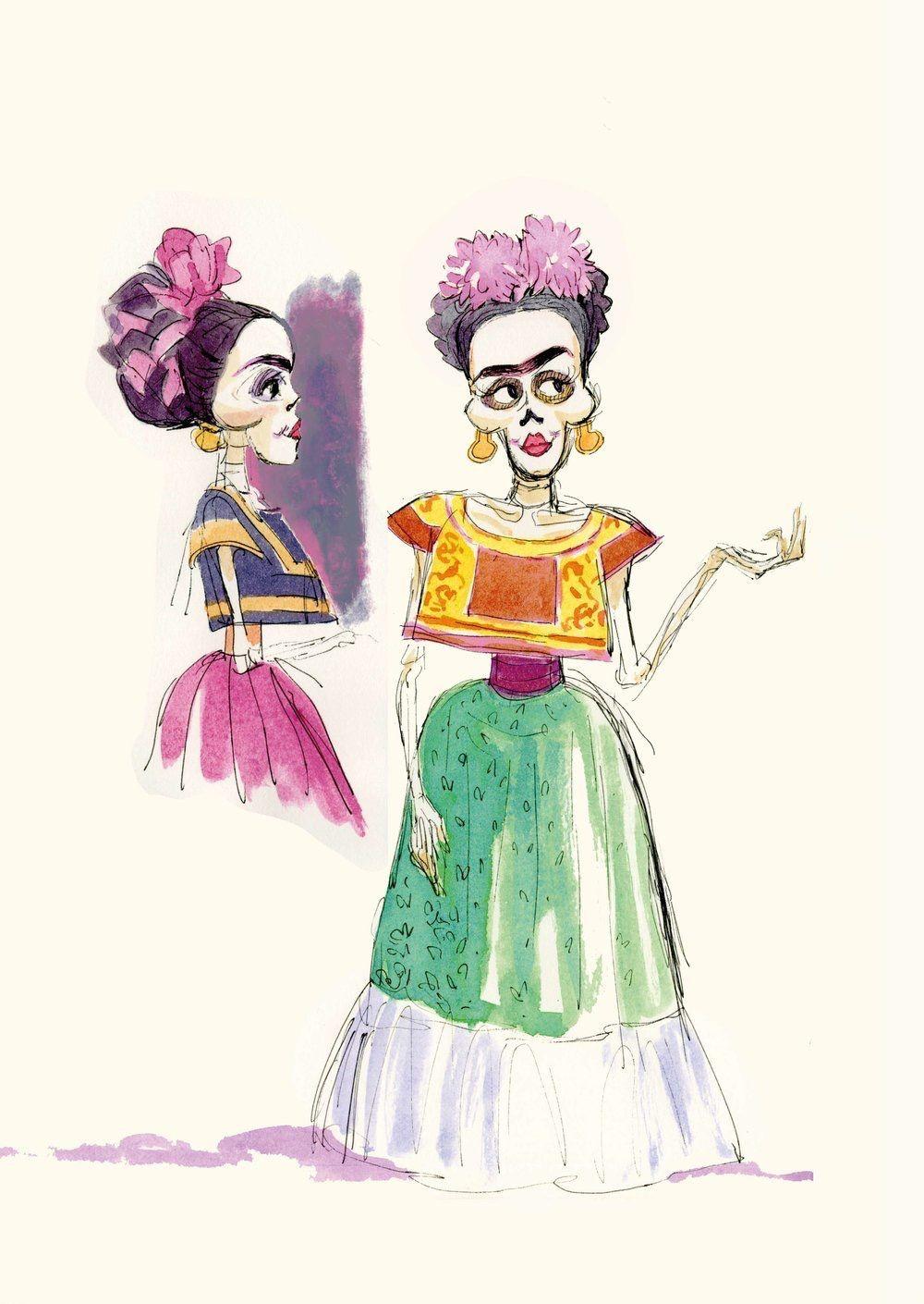 Frida Kahlo De Coco En 2019 Frida Kahlo Dibujo Frida