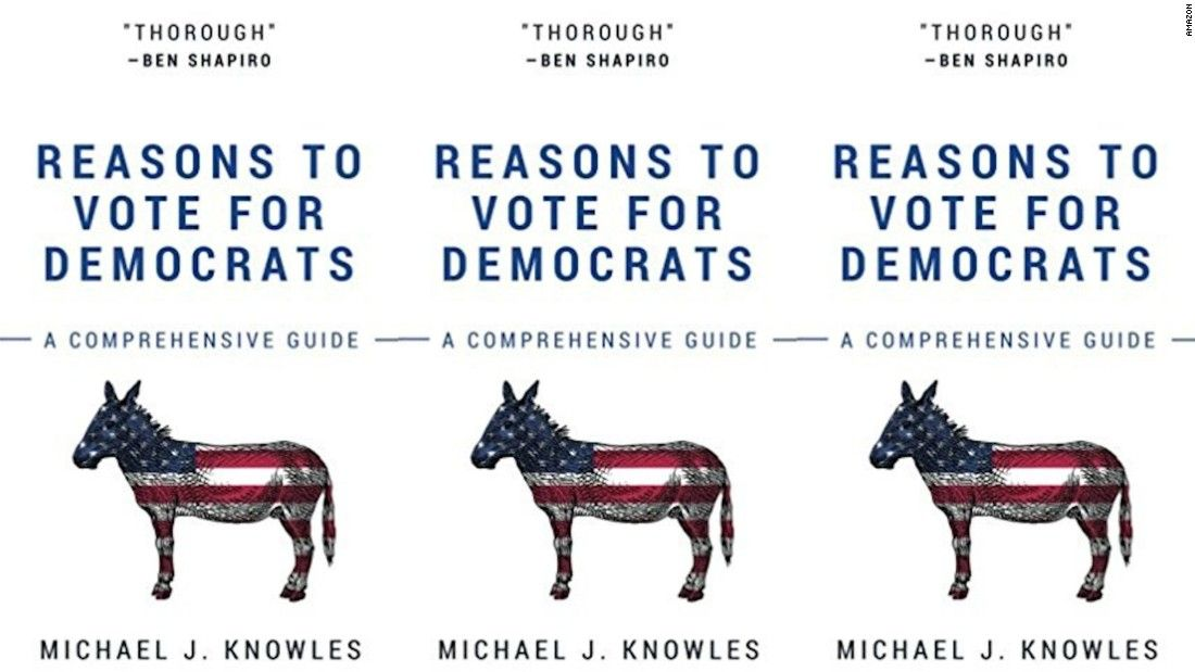 """Looking for a quick vacation read? It doesn't get any quicker than Michael J. Knowles' """"Reasons To Vote For Democrats"""" -- all of the pages are blank."""