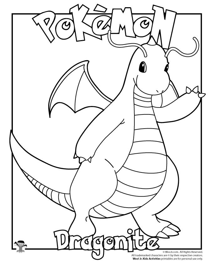Dragonite Coloring Page