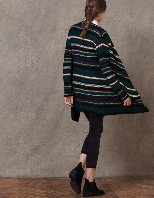 At Stradivarius you'll find 1 Jacquard cardigan for woman for just 29.95 € . Visit now to discover this and more KNITWEAR.