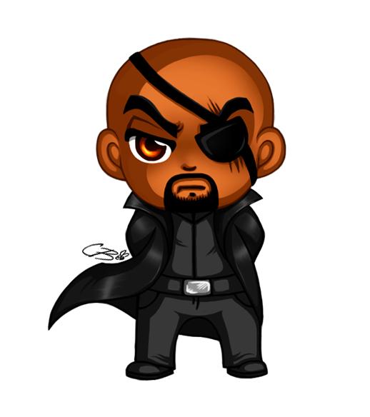 Chibi Nick Fury by C0f...