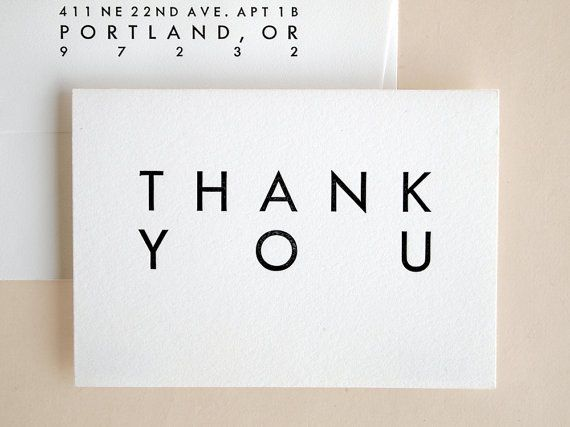 Thank You Cards Bulk  Wedding  Mid Century Modern by seabornpress