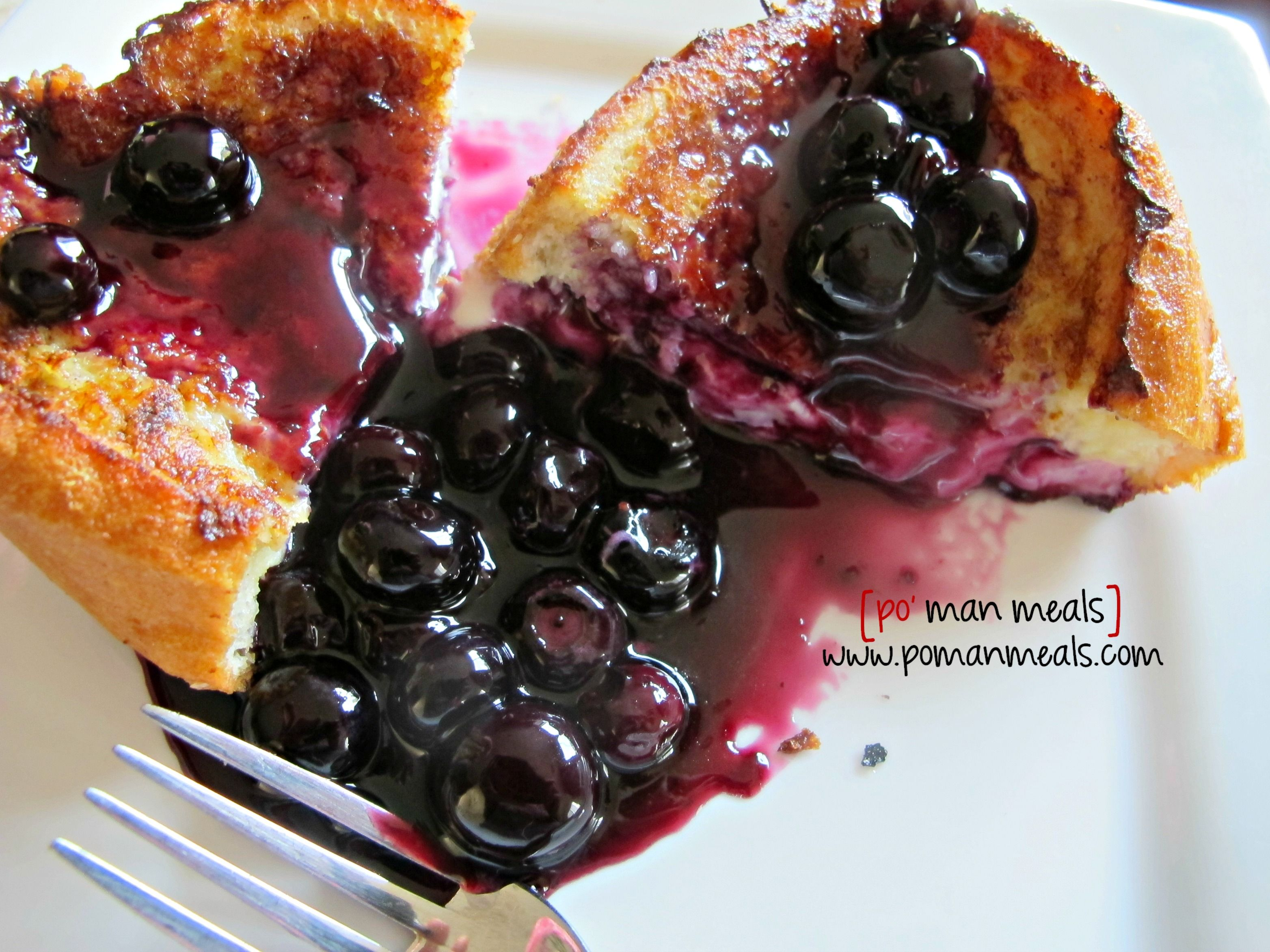 Stuffed French Toast with Blueberry Orange Syrup.   Oh man this looks good!