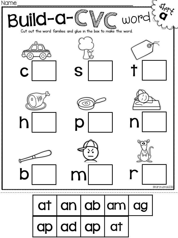 Free Cvc Words Worksheets For Kindergarten