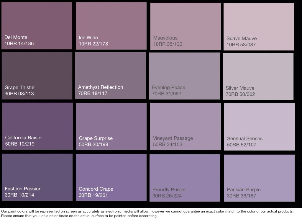 Evening Peace Or Parisian Purple Paint Colors