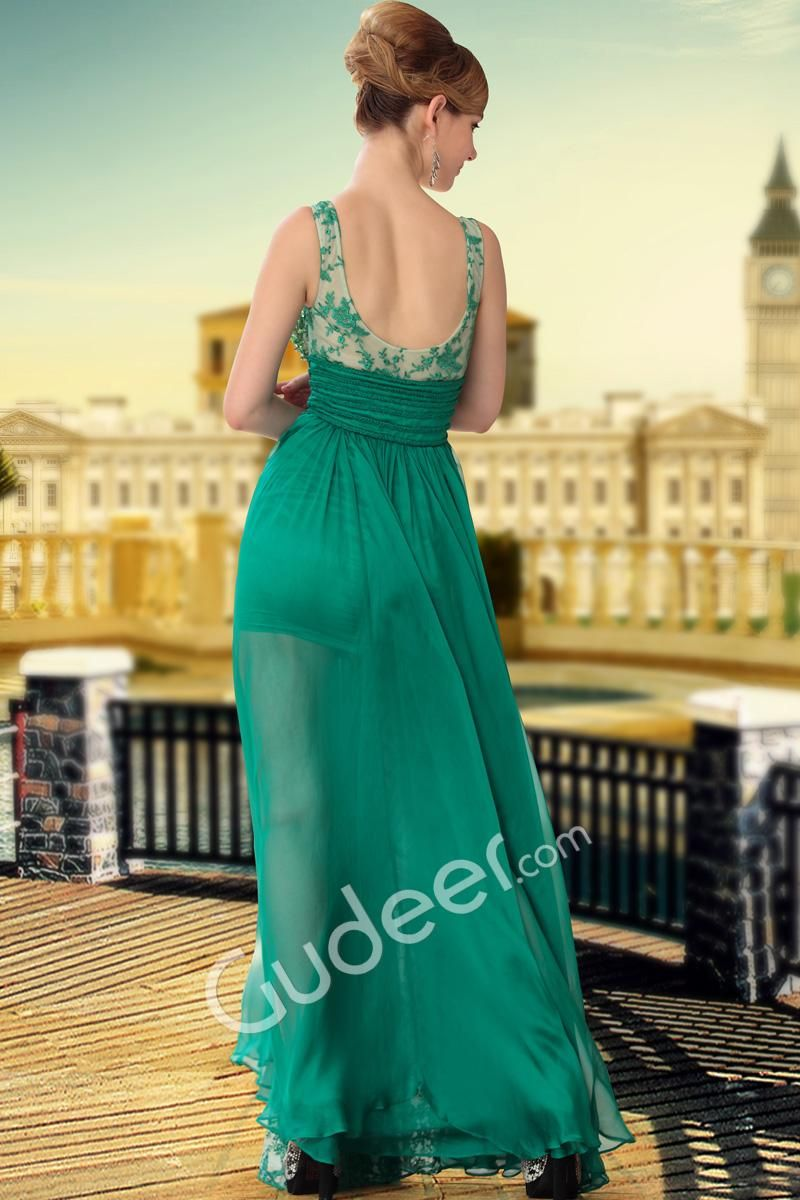 Gorgeous beaded sheer sleeveless floor length evening #formaldress is highly comfortable & perfect for any #party or function.