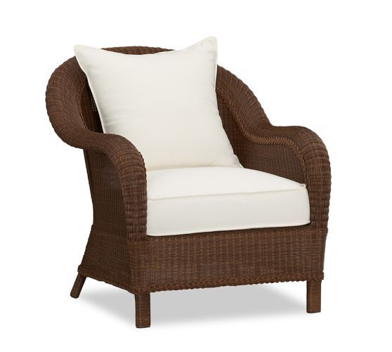 Palmetto All Weather Wicker Lounge Chair Honey With Images