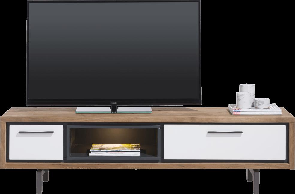 Otta Meuble Tv 170 Cm 1 Tiroir 1 Porte Rabattante 1 Niche Led In 2020