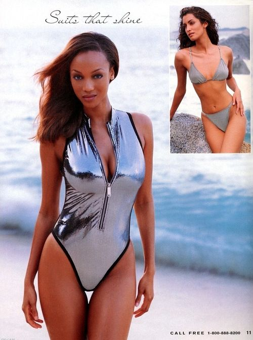 victoria s secret 1997model tyra banks so 90 39 s tyra banks one piece swimsuit 1990s. Black Bedroom Furniture Sets. Home Design Ideas