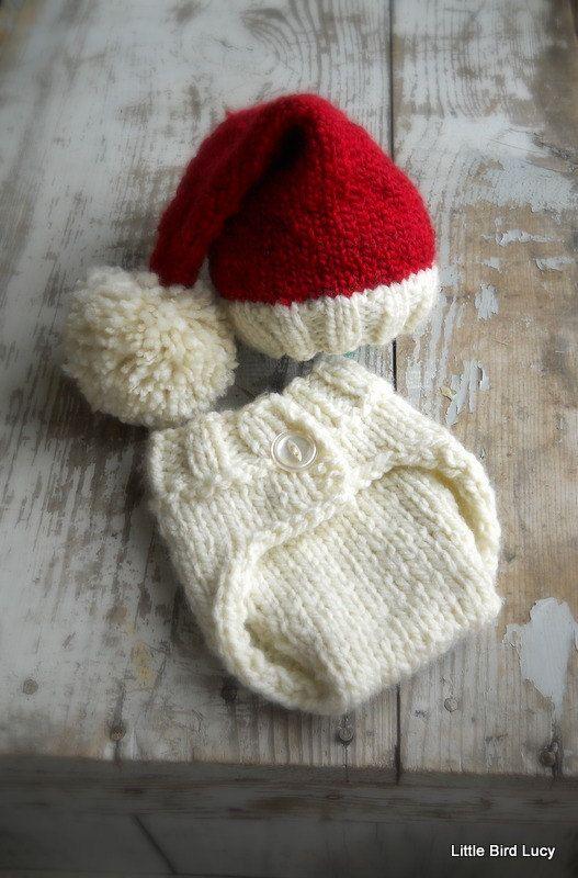 Newborn Santa Elf Hat Set | Baby Stuff! | Pinterest | Stricken