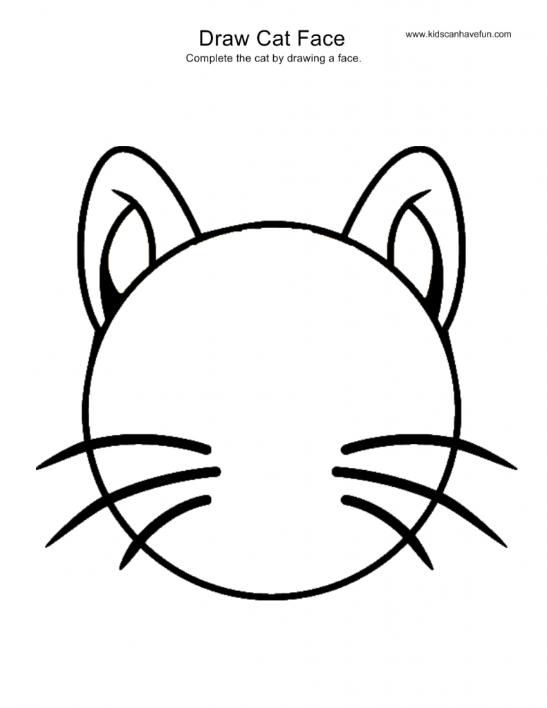 cat you make the face drawing instructions pinterest face