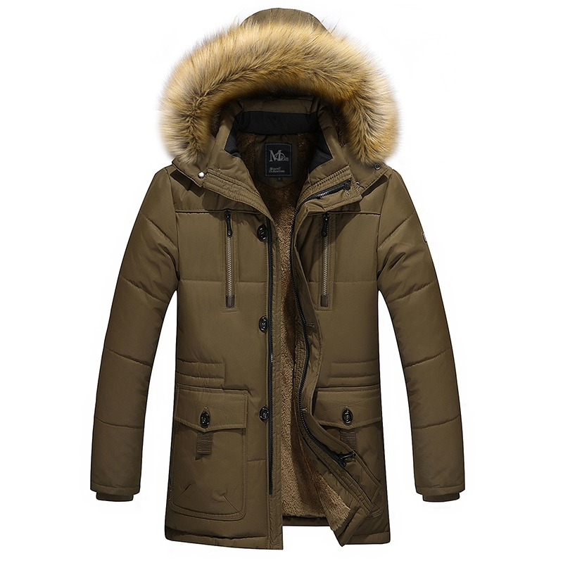 (32.78$)  Know more - http://aiklh.worlditems.win/all/product.php?id=32750284924 - 2016 men's clothing long cotton jacke tautumn&winter warm velvet lining material Dad Coats&Jackets thickening male wadded jacket