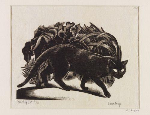 aleyma:Eileen Mayo, Prowling Cat, 1938 (source).