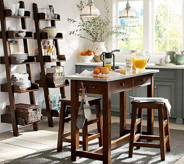 Wohnideen Leiterregal Und Dekoartikel Holz Möbel Esszimmer Elegant