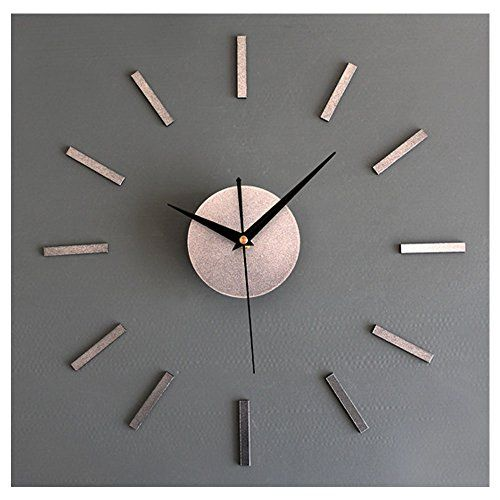 Elegant Modern Frameless Large 3d Diy Wall Clock Kit Deco