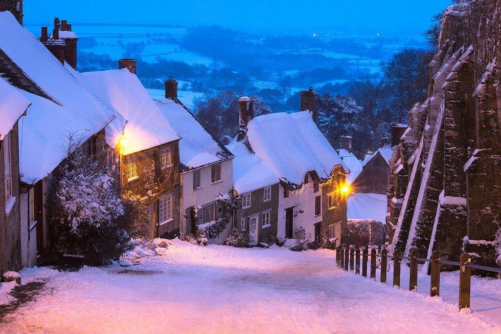 SHAFTESBURY - Luci della sera (Contea di Dorset-Inghilterra)