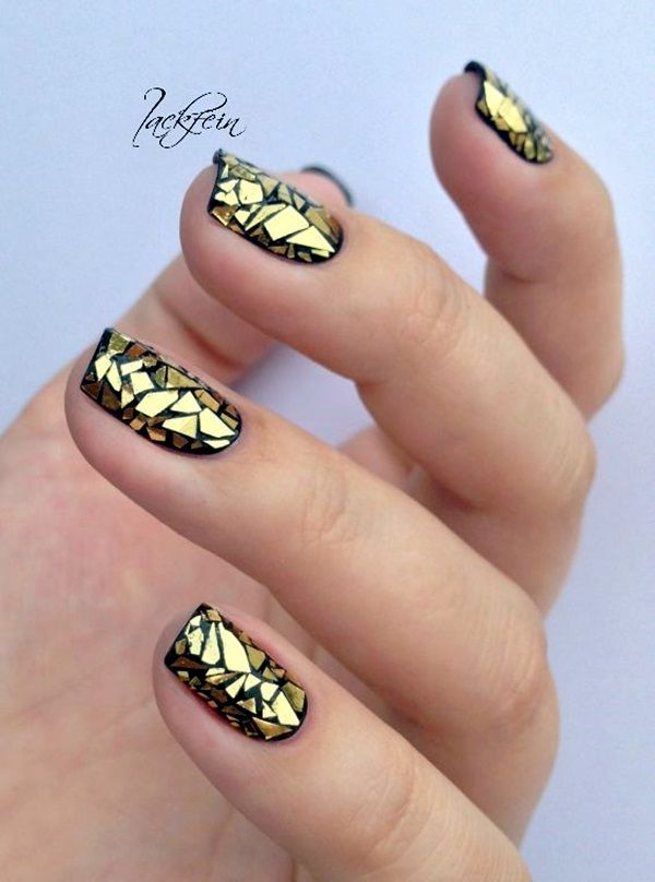 55 Easy New Years Eve Nails Designs and Ideas 2018 | Pretty nail art ...