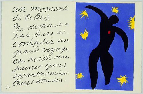 Henri Matisse. Icarus from Jazz. 1943-1947