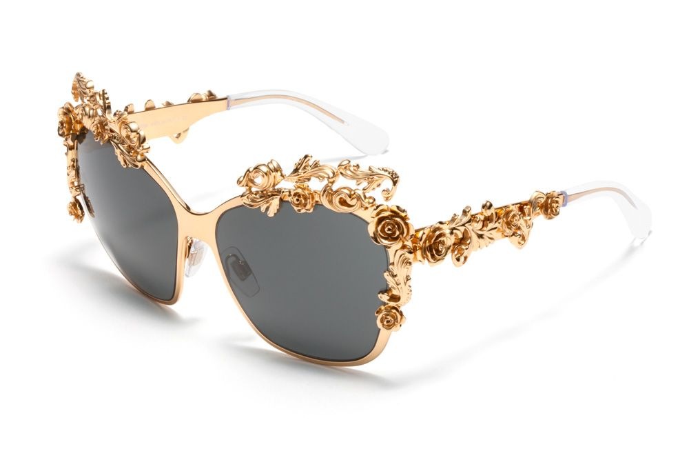 f6f377f612 Dolce & Gabbana sunglasses - Baroque collection. Amazing golden flowers  trim this high-fashion elegant frame by Dolce&Gabbana.