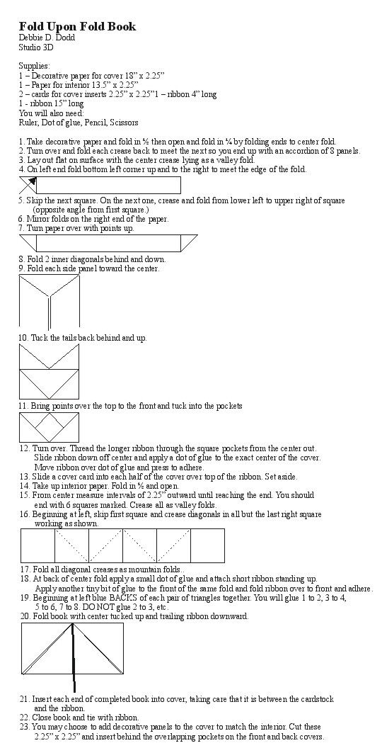 Fold Upon Fold Book by Debbie Dodd | Bookbinding | Tutorials ...