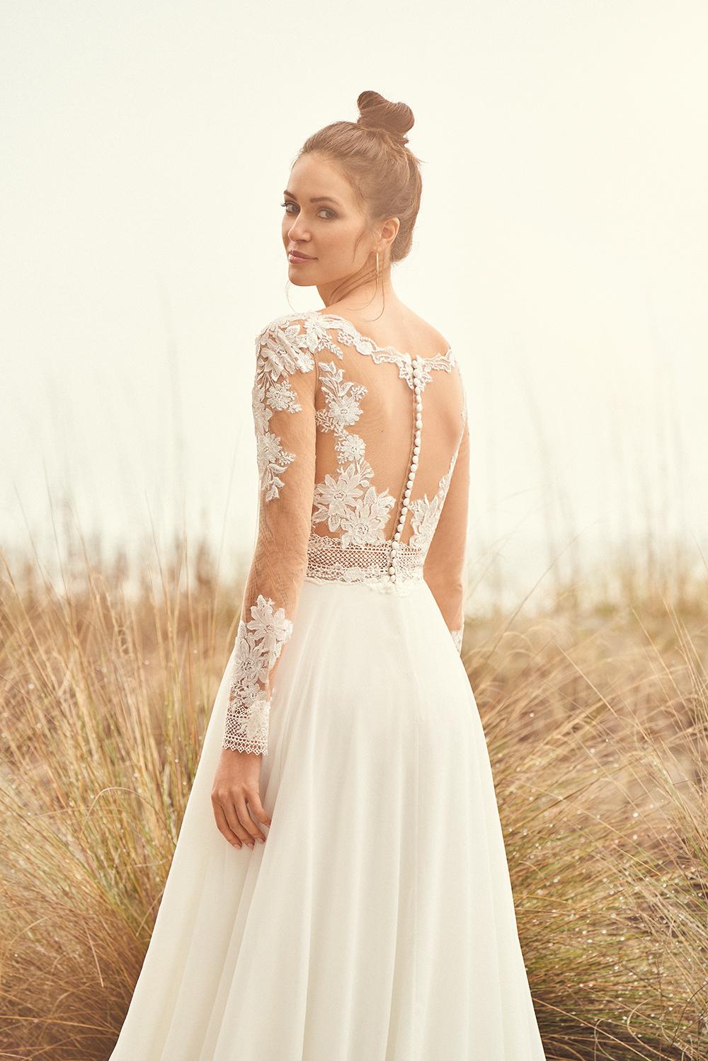 Long sleeved wedding dress from Alison Kirk Bridal in 2020