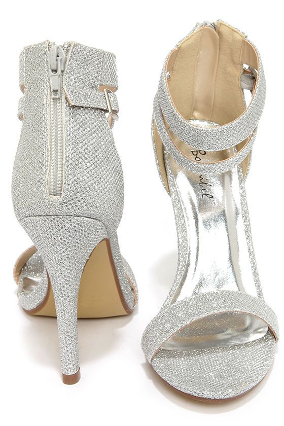 bcb9d7cdc86 Lupid 2 Silver Glitter Ankle Strap Heels at Lulus.com!