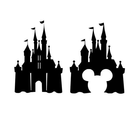 This Listing Is For Instant Download Of A Zip Folder Which Includes 2 Svg Files For Cricut Disney Castle Silhouette Disney Castle Drawing Disney Castle