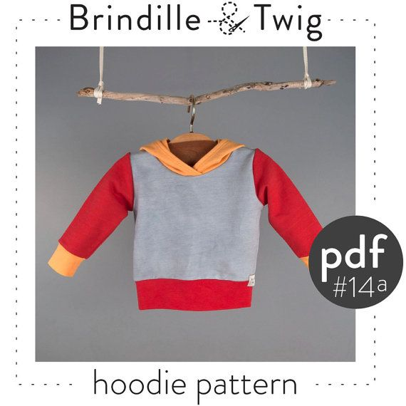 Baby Hoodie PATTERN pdf download sizes.... 0-3, 3-6, 6-9, 9-12 ...