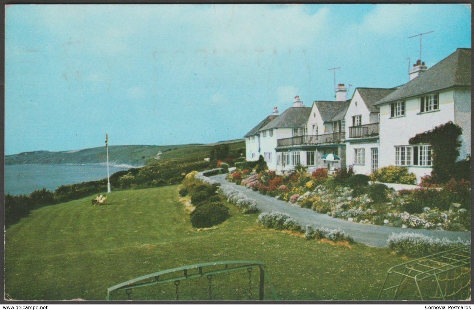 The Nare Hotel overlooking Gerrans Bay, Cornwall, 1969 - Toyne Postcard