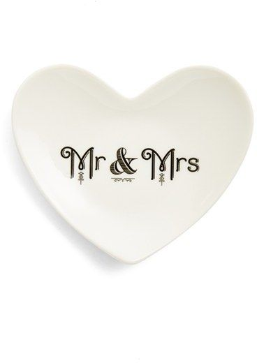 Rosanna 'Cross My Heart - Mr. & Mrs.' Trinket Tray      | @kimludcom
