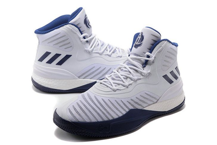 Adidas D Rose 8 Navy Blue  White Latest