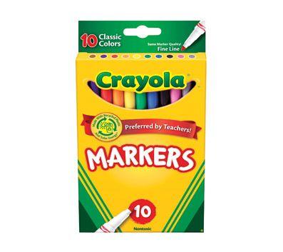 Crayola® Fine Line Markers, Assorted Classic Classpack ...