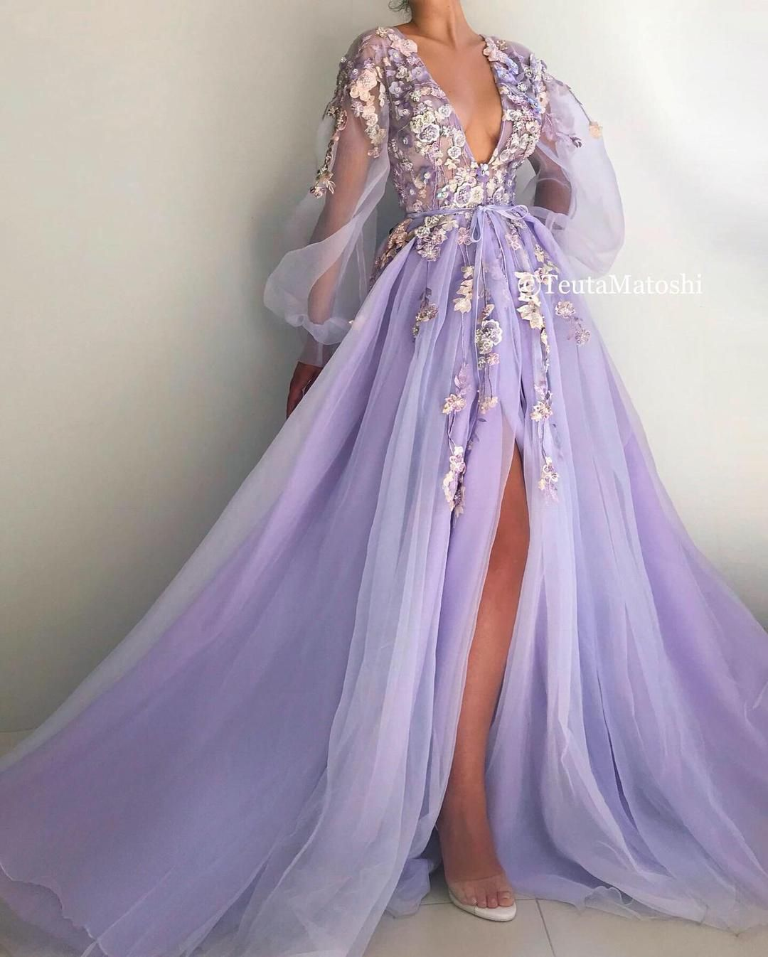 Nina's Lilac Blooms Gown