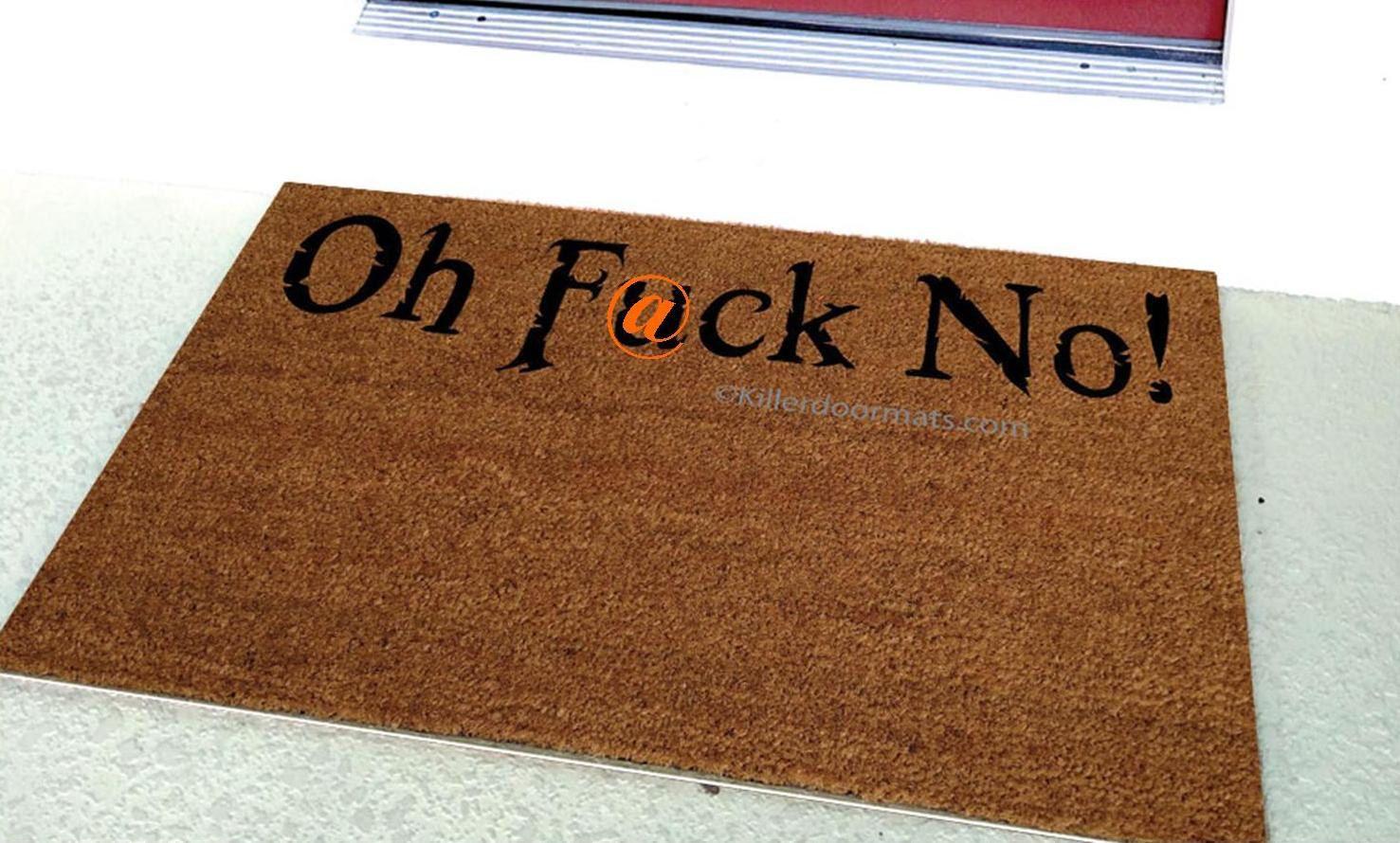 pin killerdoormats welcome customized oh killer no by doormat mat fuck custom mats