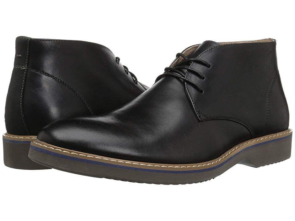 6e1ccfa975a7 Florsheim Union Plain Toe Chukka Boot (Black Leather Crazy Horse Grey Sole)
