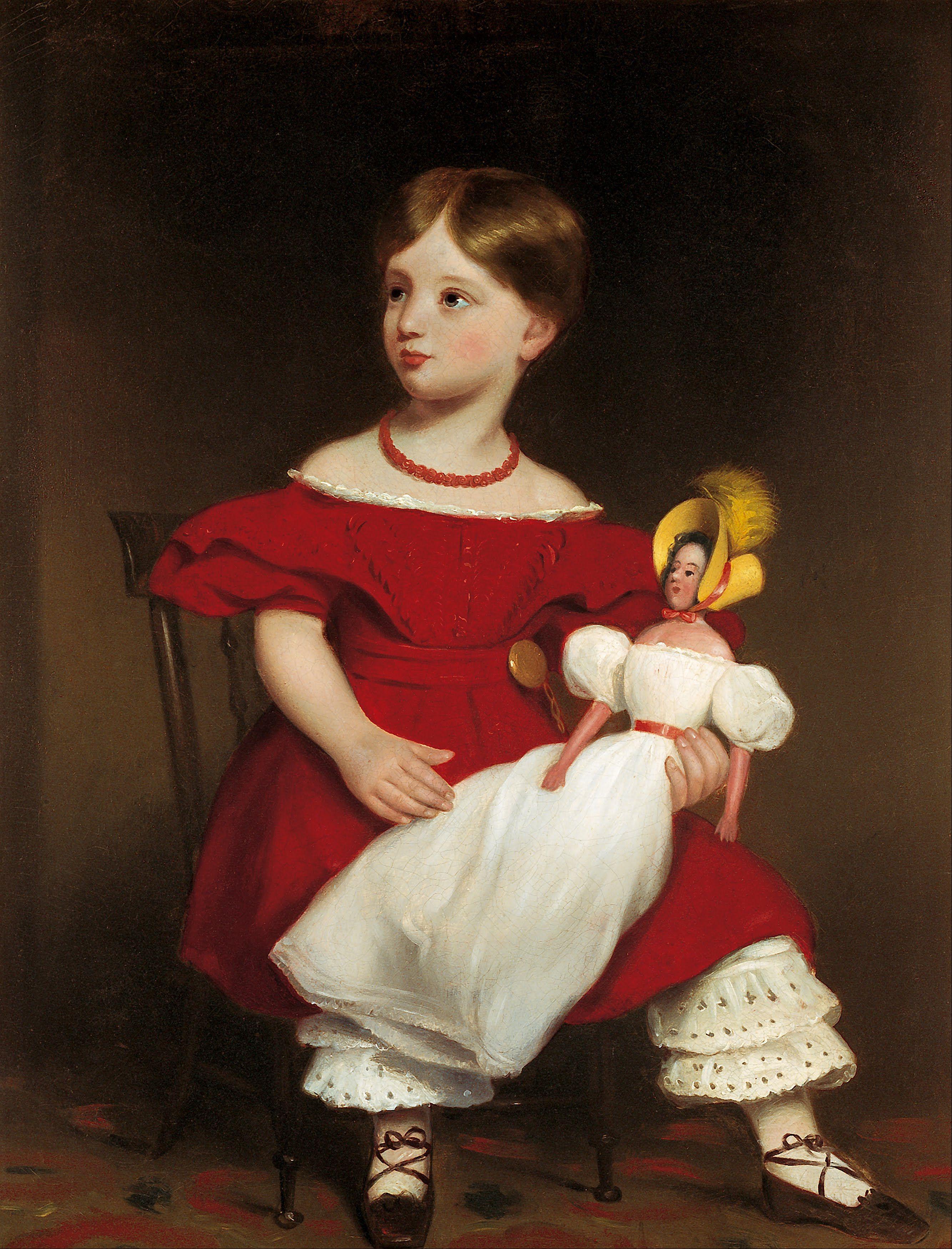 Attributed to Thomas Bock: Eliza Langhorne. ca. 1849.