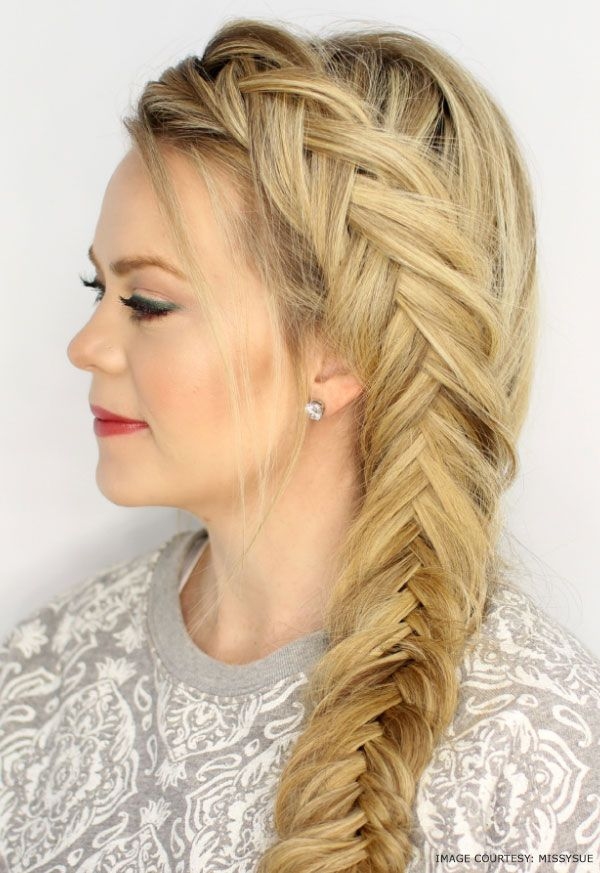 Fishtail Braid Hairstyles Delectable Waterfall And Inverted Fishtail Braid #fishtailbraid #hairstyle