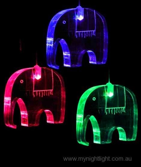 Elephant Mobile And Night Light Sterling S Room Baby