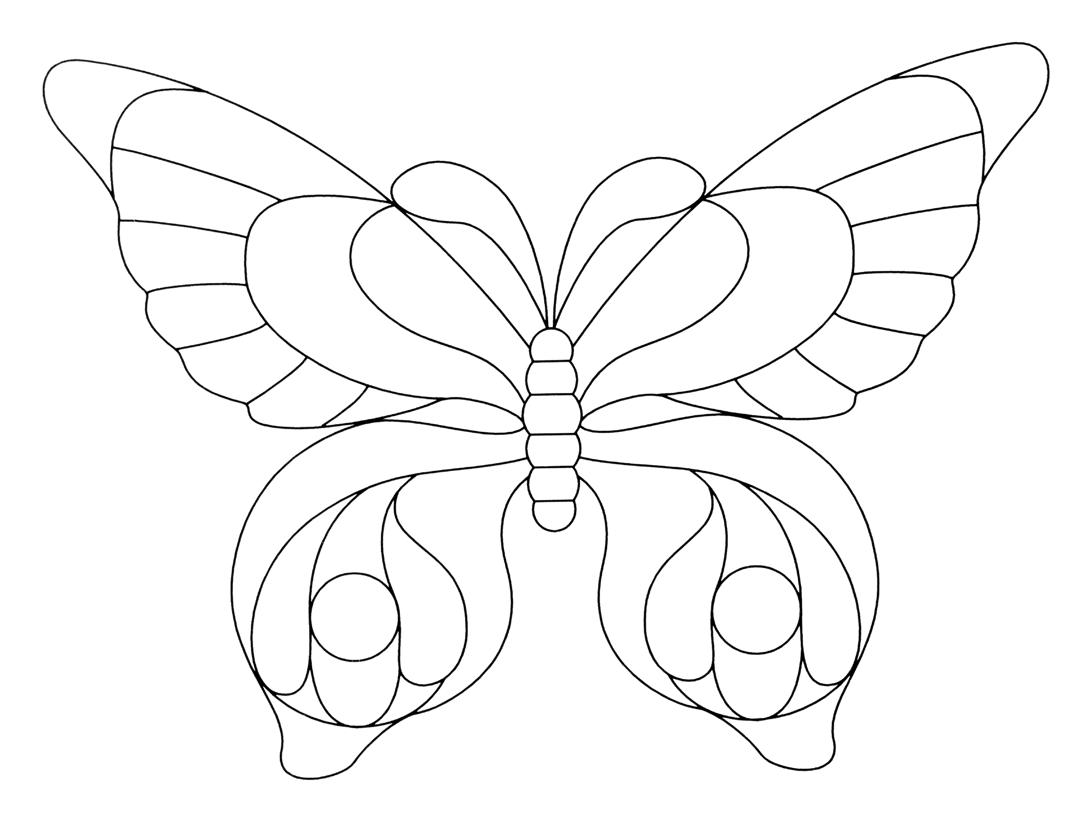 Butterfly Template 1.png (Png Image, 2100 × 1599 Pixels) - Scaled