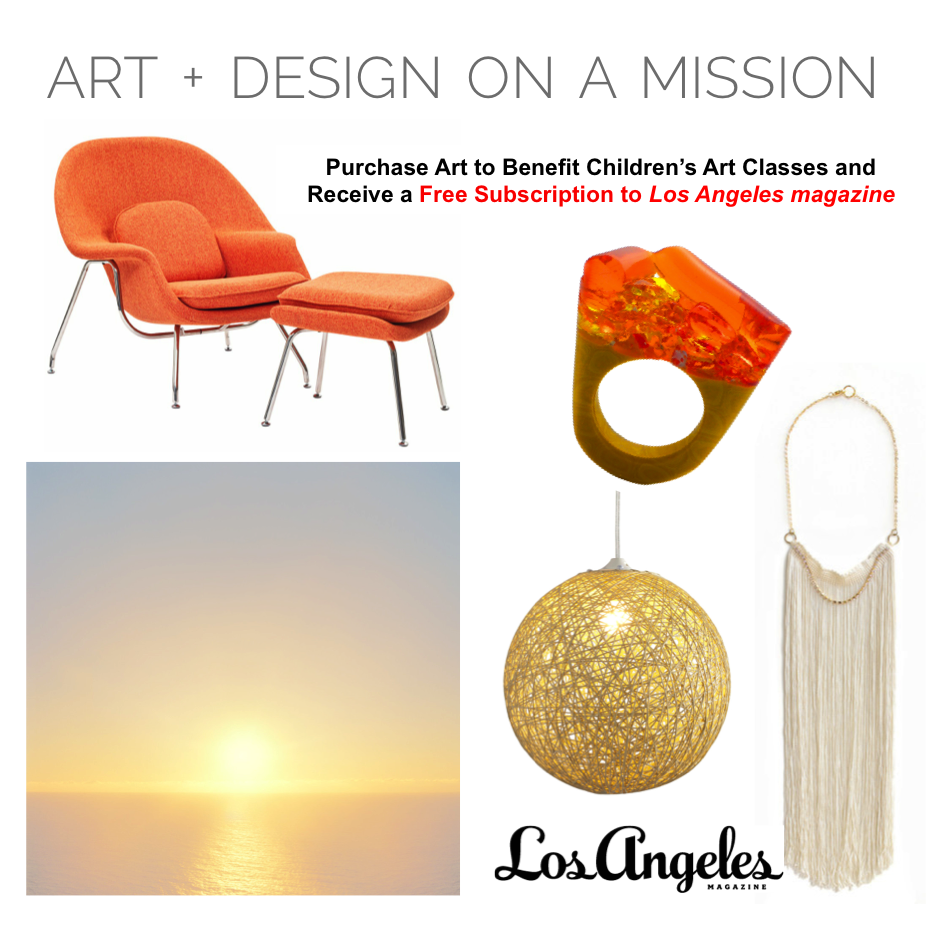 Receive a FREE Subscription to Los Angeles Magazine. Your purchase directly benefits free #Art classes for children || Shop here, www.ArtUrbane.com #DesignOnAMission