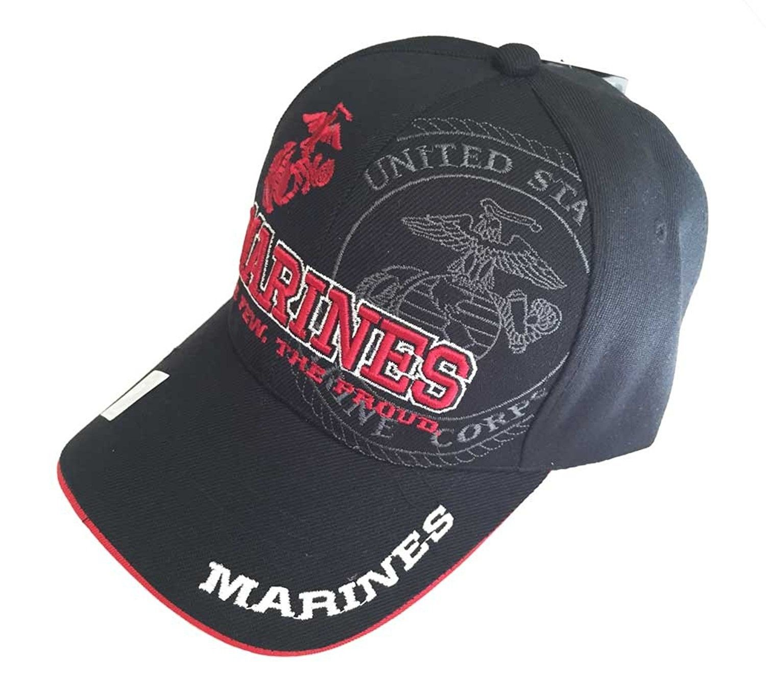 U.S. Military Marines Officially Licensed Cap Hat - Black ... 4a470e32d1a