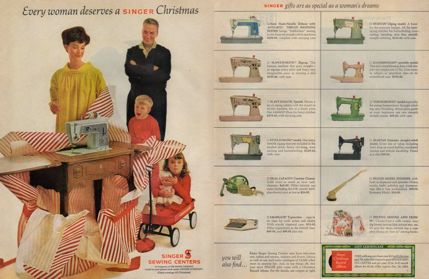 These vintage sewing machine Christmas ads on Quilter's Bug are simply beautiful! To see more, please visit: https://quilters-bug.myshopify.com/blogs/vsm-collecting/vintage-sewing-machine-christmas-ads