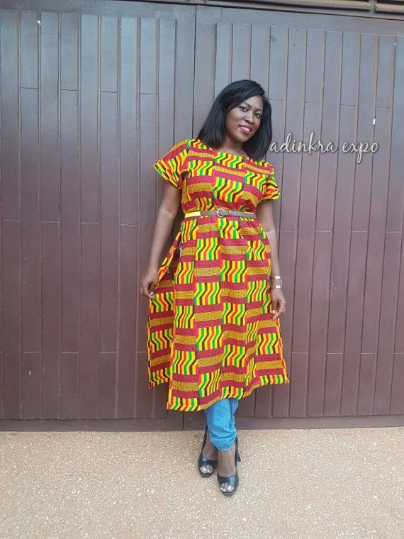 340dc5511c6 Ohema Kente Tunic / Ankara shirt / African top / African dress ...