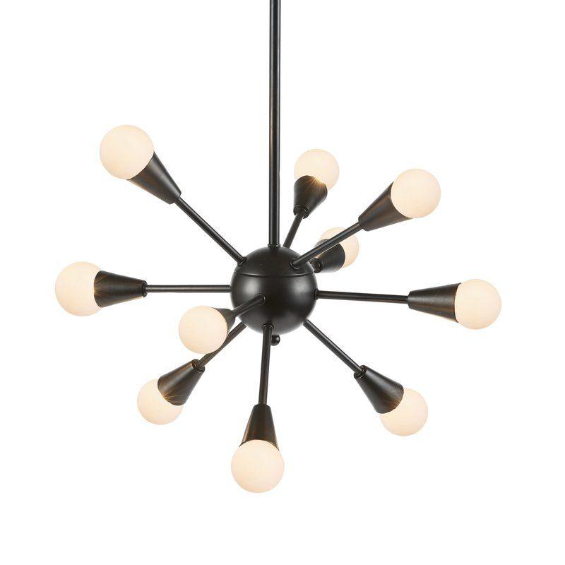Doolin 6 Light Sputnik Modern Linear Chandelier
