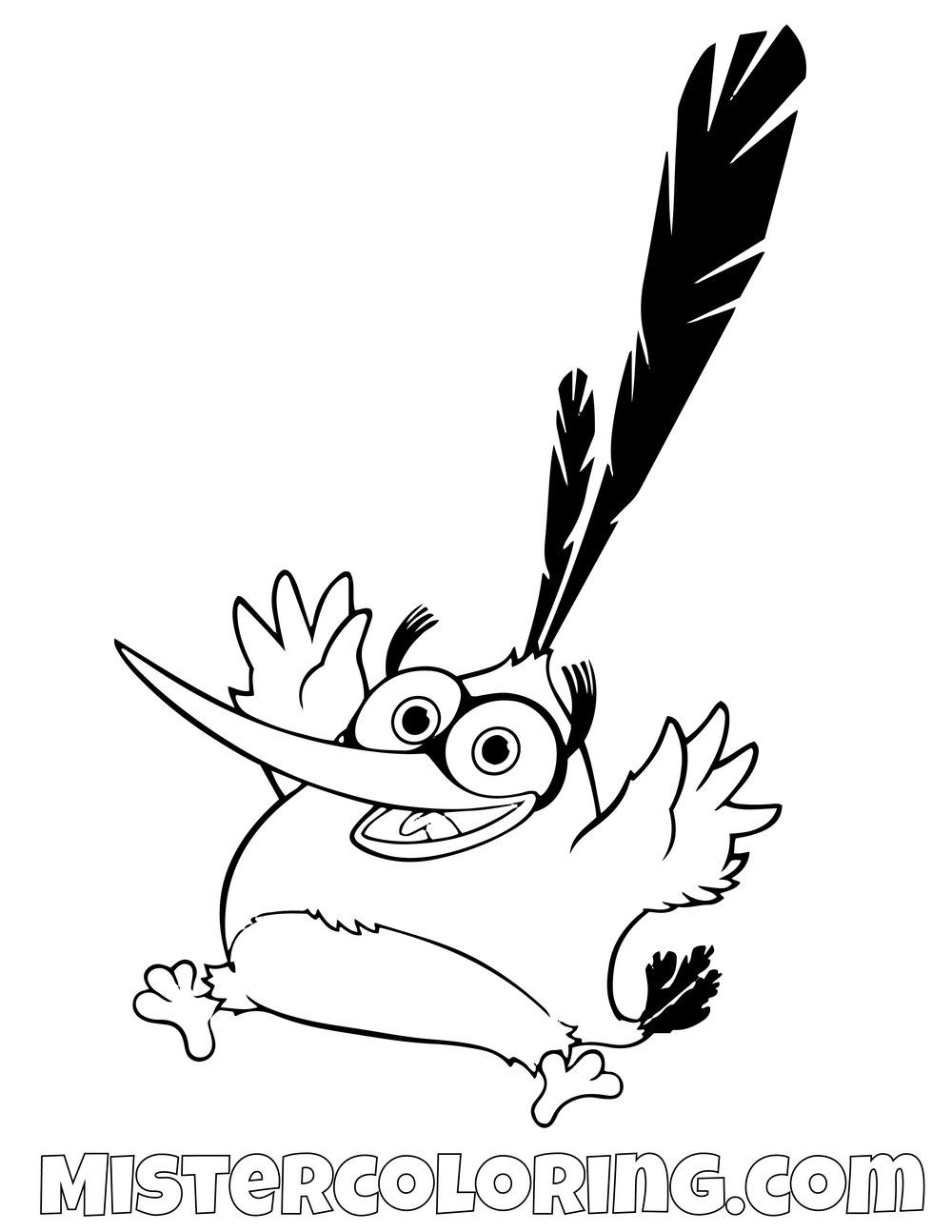 Chuck Excited Angry Birds Coloring Pages Bird Coloring Pages
