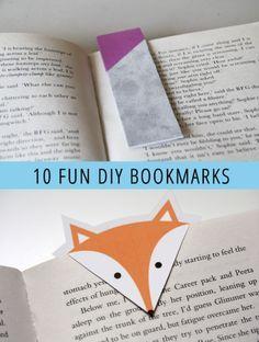 10 Fun DIY Bookmarks
